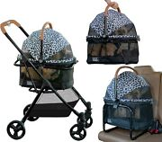3 In 1 Travel System For Small Dogs Cats Stroller Converts Carrier Booster Seat