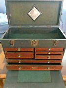 Vintage Gerstner And Sons Machinist Tool Box Chest Wood 7 Drawers