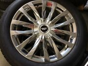 22 2021 Set Of 4 Cadillac Escalade Polished Wheels W/tires And Tpms Oem