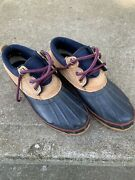 Women's Lands' End Red Waterproof Insulated Duck Shoes Low Boots Size 8 M