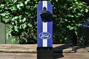 Ford Oval Wall Mount Bottle Opener With Cap Catcher - Mustang - F-150 - Wood