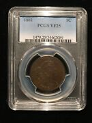 1802 Draped Bust Large Cent Pcgs Vf25 Sheldon Choice Eac Flowing Hair