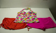 New Maurices Tankini Swimsuit Top 2x And 2- Xl Bottomsskirted And Boy Shorts 3 Pc