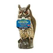 Dalen Scarecrow Great Horned Owl Animal Repellent Decoy For All Pests -case Of 6