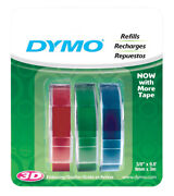 Dymo 3/8 In. W X 9.8 Ft. L Assorted Lable Maker Tape -case Of 30