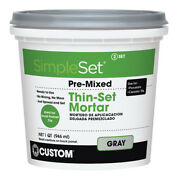 Custom Building Products Simpleset Gray Thin-set Mortar 1 Qt. -case Of 6