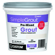 Custom Building Products Simplegrout Indoor Alabaster Grout 1 Qt. -case Of 6