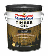 Thompsonand039s Waterseal Transparent Walnut Penetrating Timber Oil 5 Gal. -pack Of 1