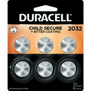 Duracell Lithium 2032 3 Volt Electronic/thermometer/watch Battery 6 -case Of 36
