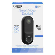 Feit Electric Plastic Wired Smart Video Doorbell -case Of 12