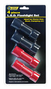 Steel Grip Black/red Led Flashlight Aaa Battery -case Of 24