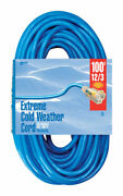 Woods Indoor Or Outdoor 100 Ft. L Blue Extension Cord 12/3 -case Of 3