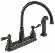 Delta Windemere Two Handle Oil Rubbed Bronze Kitchen Faucet Side Spra -case Of 3