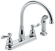 Delta Windermere Two Handle Chrome Kitchen Faucet Side Sprayer Includ -case Of 3