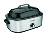 Proctor Silex Polished Chrome Black Aluminized Steel 18 Qt. Electric -pack Of 1