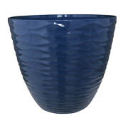 Southern Patio 15 In. Dia. Resin Gallway Patio Planter Navy -case Of 6
