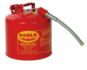 Eagle Steel Safety Gas Can 5 Gal. -pack Of 1
