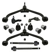 12 Pc Upper Control Arm Tie Rod Ends Control Arm Bushings Kit For Jeep Liberty