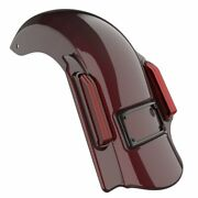 Crimson Red Sunglo Dominator Stretched Rear Fender 2 Into 1 Fits Harley 09-13
