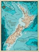 Wooden Map Of