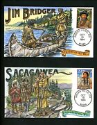 Us Fdc 2869 Collins Hp Hand Painted 1994 Legends Of The West Unofficial Set 20