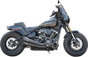 Sands Exhaust Ca, Grand National, 2 Into 2, Black, M8 Softail Exc Fat Boy/breakout
