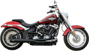 Sands Exhaust Ca 2-1 Black M8 Softail Fat Boy/breakout 2018-2021 Wide Chassis