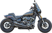 Sands Exhaust Grand National, 2 Into 2, Black, M8 Softail Except Fat Boy/breakout