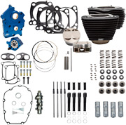 Sands 124 M8 Power Package All Black Big Bore Chain Cam Black Pushrod Oil Cooled