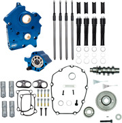 Sands Cam Chest Kit, Gear Drive, Water Cooled, Black Pushrod Tubes, 465g Harley M8