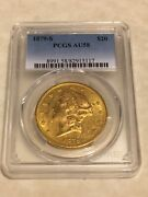 1879-s Au58 Pcgs Liberty Double Eagle 20 Gold Coin Very Nice Eyeclean Almost Ms