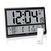 Atomic Clock - Digital Wall Clock With Jumbo Display Easy To Read Numbers With