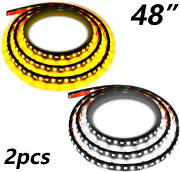 Truck Led Running Board Lights 2pc 48inch 120 Led White And Amber Side Marker Kit