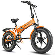 Engwe Ep-2 500w 20 Inch Fat Tire Electric Folding Bicycle Mountain Beach Snow