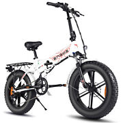 Engwe Ep-2 Pro 750w 20 Inch Fat Tire Electric Folding Bicycle Mountain Beach Sno