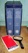 The Compact Edition Of The Oxford English Dictionary 2 Vols. W/case And Glass