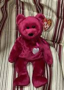 Rare Ty Valentina Beanie Baby Tush And Tag Different Dates, Tag Has Hanging Chad