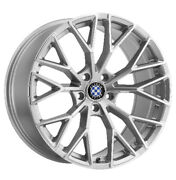 Beyern Antler Rims For Bmw 20x9 5x120silver Mirror Face 2090byl325120s72 Qty4