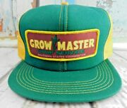 Vintage Grow Master Southern States Snapback Patch Trucker Farmer Dad Hat Cap