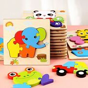 Children Mini Learning Wooden Puzzles Jigsaw Educational Toys Animals/ Vehicles