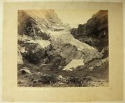 Signed Antique Grindelwald Glacier Photograph By Adolphe Braun1812-1877 C1865
