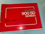 Ducati Motorcycle 900 Sd Sport Darmah Workshop Manual And Spare Parts Catalogue