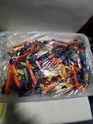Vintage Antique Vibrant Multi Colored Small Wooden Building Blocks Lot. 8lbs+.