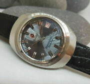 Rare Vintage 70and039s Rado Manchester Sapphire Grey Dial Date Automatic Manand039s Watch