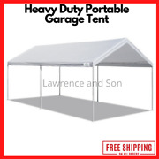 Canopy Carport 10and039 X 20and039 Heavy Duty Portable Garage Tent Car Shelter Steel Frame