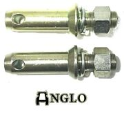 Pair Tractor Lower Link Linkage Mounting Pins Cat. 2 28mm Ford Massey Case Ih