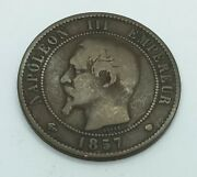 1857 Ma France 10 Centimes - Km 771.6   Napoleon Iii French Coin
