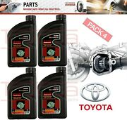 Set 4 Genuine Toyota Differential Gear Oil Fully Synthetic Gl-5 85w-90 1qt.