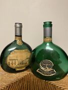 """Beautiful Vintage / Old Portugal """"mateus"""" Teal Green Glass Wine Bottle, Exc"""