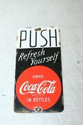 Coca Cola Push Vintage Style Porcelain Signs Country Store Advertising Man Cave
